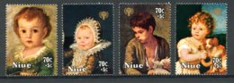 Niue, 1979, International Year Of The Child, IYC, United Nations, Paintings, MNH, Michel 242-245 - Niue