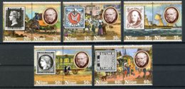 Niue, 1979, Sir Rowland Hill, UPU, United Nations, Mail Coach, Ship, MNH Pairs, Michel 246-255 - Niue