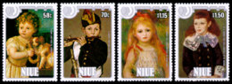 Niue, 1985, International Youth Year, UNICEF, United Nations, Paintings, MNH, Michel 630-633 - Niue