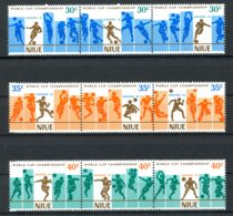 Niue, 1981, Soccer World Cup Spain, Football, MNH Strips, Michel 424-432 - Niue