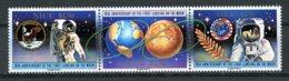 Niue, 1989, Space, Moon Landing, Apollo, MNH Strip, Michel 742-744 - Niue