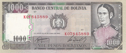 1000 PESOS 1982 BOLIVIA Banknote Sehr Gute Erhaltung - Bolivien