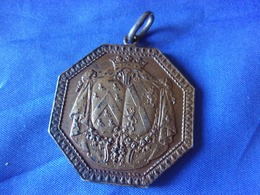 MEDAILLE EN ARGENT A IDENTIFIER  22 GRAMMES COURONNE MONOGRAMME BLASON HERALDIQUE - Monarchia / Nobiltà