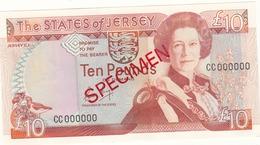 Jersey Banknote One Pound C Series, Specimen Overprint- Superb UNC Condition - Jersey