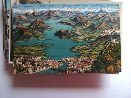 Zwitserland Schweiz Suisse LU Luzern Lucerne Und Vierwaldsträttersee Und Umgebung - LU Lucerne