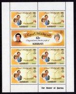 KIRIBATI - 1981 ROYAL WEDDING SET OF 3 SHEETLETS FINE MNH ** SG 149b, 151a, 153a (3 SCANS) - Kiribati (1979-...)