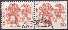 HELVETIA - SUISSE - SVIZZERA - 1977 - Yvert 1035b E 1035d Usati Uniti Fra Loro. - Usati