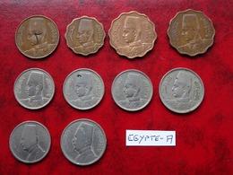 Egypte - Lot De 10 Monnaies - Egypte