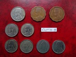 Egypte - Lot De 9 Monnaies - Egypte