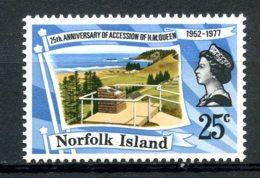 Norfolk Island, 1977, Silver Jubilee Queen Elizabeth, Royal, MNH, Michel 201 - Ile Norfolk