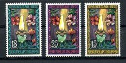 Norfolk Island, 1977, Christmas, MNH, Michel 202-204 - Ile Norfolk