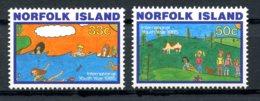 Norfolk Island, 1985, International Youth Year, United Nations, MNH, Michel 369-370 - Ile Norfolk