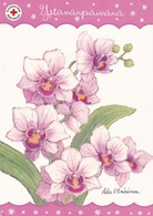 Postal Stationery - Flowers - Orchids - Red Cross 2014 - Suomi Finland - Postage Paid - Finland