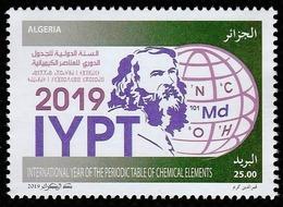 Année 2019-N°1836 Neuf**MNH  : Tableau Périodique Des Éléments Chimiques - Algérie (1962-...)