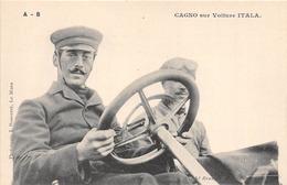 SPORT- AUTOMOBILE-PILOTE-CAGNO SUR VOITURE ITALA - Other