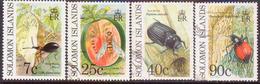 SOLOMON ISLANDS 1991 SG #687-90 Part Set (7c Is Mint, $1.50 Missing, 90c Has Bad Corner) Used Crop Pests - Solomon Islands (1978-...)