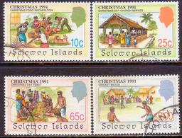 SOLOMON ISLANDS 1991 SG #703-06 Compl.set Used Christmas - Solomon Islands (1978-...)