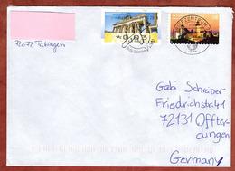 Brief, Brandenburger Tor Berlin U.a., MS Europawahl Briefzentrum 72, Tuebingen Nach Ofterdingen 2014 (78502) - [7] Federal Republic