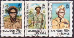 SOLOMON ISLANDS 1992 SG #723-25 Part Set Used ($2 Missing) Sgt-major Jacob Vouza - Solomon Islands (1978-...)
