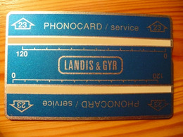 Phonecard / Phonocard Landis & Gyr 23 Code: 101A43698 - Telefoonkaarten