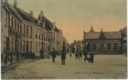 AXEL : Markt En Korte Weststraat - RARE CPA - Cachet De La Poste 1908 - Axel