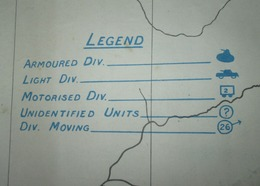 "Rare Carte GB BEF WW2 ""Skeleton Map Of Belgium-Location Of German Forces"" - 1939-45"