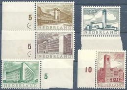 """Serie  """"Sommermarken""""  (vom Bogenrand)          1955 - Nuovi"""