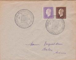 ENVELOPPE TIMBRE     1946 FRANCE BELGIQUE LUXEMBOURG (CHARLEVILLE) - Marcophilie (Lettres)