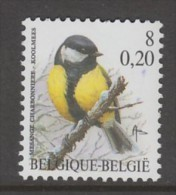 TIMBRE NEUF DE BELGIQUE - OISEAU DE BUZIN : MESANGE CHARBONNIERE N° Y&T 2963 - Passereaux