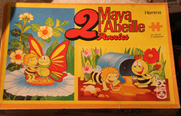 Rare Puzzle 1978 Double Maya L'Abeille Apollo Film Wien Hemma Schmid 23*34 Cm Complet Très Bon état - Puzzles