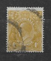 "1924 USED  Australia Watermark ""small Crown"" Michel 62 Wz 3 - 1913-36 George V: Heads"