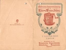 Gebrauchsanweisung Für Die Eis-Machine - Husquvarna - Schweden - Thun - 16 Seiten - 3  Zeichnungen  17.5 X 11.5 -1905 - Machines