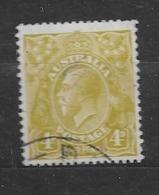 "1926 USED  Australia Watermark ""multiple"" Michel 76C Wz 6, Perf 13 1/2 : 12 1/2 - 1913-36 George V: Heads"