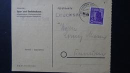 Germany - Allied Occupation - 1947 - Mi:DE-TZ 944, Sn:DE 558, Yt:DE-TZ 33 On Postcard - Look Scan - Gemeinschaftsausgaben