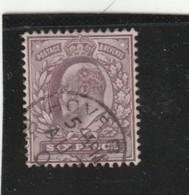 **** ANGLETERRE *** England ***  - Roi Edouard VII -- N° 114 Côte 20€ - Used Stamps