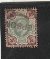 **** ANGLETERRE *** England ***  - Roi Edouard VII -- N° 112 Côte 20€ - Usados