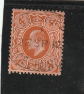 **** ANGLETERRE *** England ***  - Roi Edouard VII -- N° 128 Côte 12.50€ - Usados