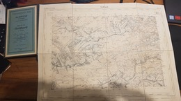 Schweiz - Gotthard 50'000 - 1925 - Bon état - Collée Sur Du Tissu - Fourre En Carton - 45 X 35 Cm - Mapas Geográficas