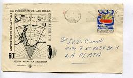 60° ANIVERSARIO DE LA TOMA DE POSESION DE LAS ISLAS ORCADAS DEL SUR. ARGENTINE 1969 ENVELOPE FDC CIRCULEE -LILHU - Events & Commemorations
