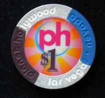 Jeton De Casino, Planet Hollywoods, Las Vegas, Nevada - Casino