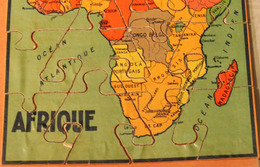 Rare Très Ancien Puzzle En Bois AFRIQUE 20 Pièces GB Et Cie NK Atlas Paris Années 50? - Puzzles