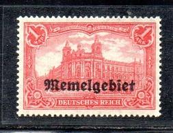 APR2462 - MEMEL FRANCESE 1920 , Unificato N. 13 *  Linguella  (2380A). - Memel (1920-1924)