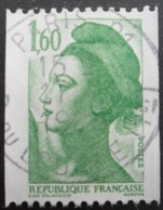 FRANCE Liberté De Gandon N°2222 Dentelé Horizontalement Oblitéré - 1982-90 Liberty Of Gandon
