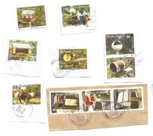 1007/1016   Boite  Aux Lettres Beaux Cachets   Sur Fragments  Sauf 1 (boitsorbl) - Usados