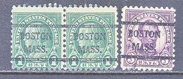 U.S. 581, 584    Perf. 10   (o)    MASS.  1923-26 Issue - United States