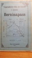 Schweiz - Simplon 50'000 - 1911 - Papier ~ 90 X 75 Cm - Quelques Annotations - Mapas Geográficas