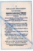 JOANNES - LUDOVICUS VINCKX ° BIERBEEK 1914 + VAALBEEK 1964 /ONDERWIJZER/ JOANNA VERSTAPPEN - Images Religieuses