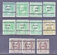 U.S. 632 +    Perf. 11 X 10 1/2   (o)    MASS.  1926-34  Issue - Precancels