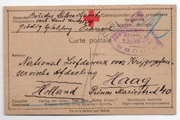 15.01.1918.  WWI, AUSTRIA, GRODIG BY SALZBURG, SERBIAN POW LETTER, CENSORED, CARD TO HAAG, HOLLAND, RED CROSS - 1850-1918 Empire