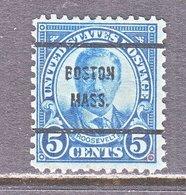 U.S. 637    Perf. 11 X 10 1/2   (o)    MASS.  1927  Issue - Precancels